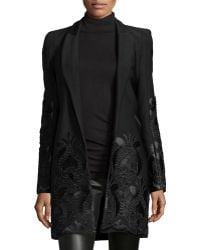 Alexis - Marios Embroidered Open-front Coat - Lyst