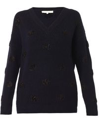 Vanessa Bruno Textured Polkadot Wool Sweater - Lyst