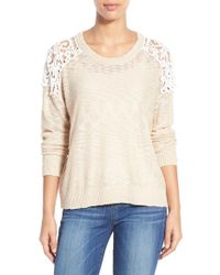 Dex - Lace Inset Sweater - Lyst
