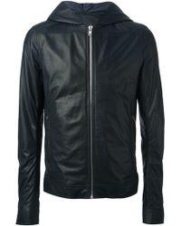 Rick Owens Hooded Biker Jacket - Lyst
