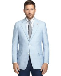 Brooks Brothers Own Make Blue Chambray Patch 101 Sport Coat - Lyst