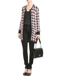Karl Lagerfeld | Chunky Knit Cardigan - Multicolor | Lyst