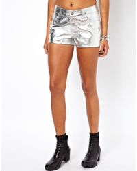 Tripp Nyc - Faux Leather Shorts - Lyst