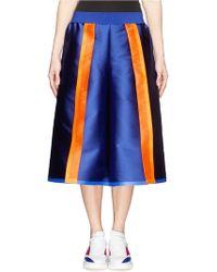 Fyodor Golan Neon Stripe Silk Twill Culottes - Lyst