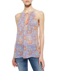 Joie Shara Mixed-Print Tank Top - Lyst