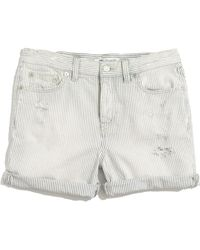 Madewell Denim Boyshorts in Railroad Stripe - Lyst