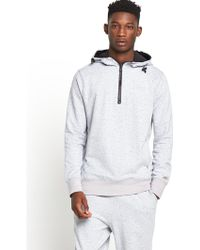 Converse Mens Cons Stacked Half Zip Fleece Hoody - Lyst