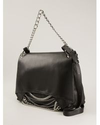 Claudio Orciani | Chain Embellished Fold Over Top Tote Bag | Lyst