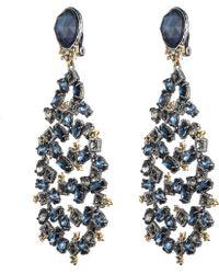 Alexis Bittar Blue Confetti Chandelier Clip Earring gold - Lyst