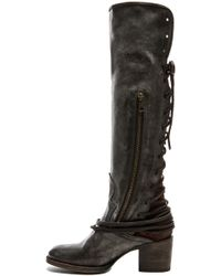 Freebird by Steven | Coal Leather Boots | Lyst