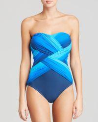 Gottex Harmony Bandeau One Piece Swimsuit - Lyst