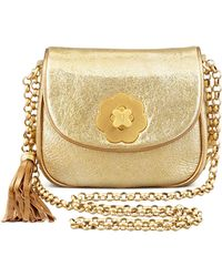 Eric Javits Baby Metallic Shoulder Bag gold - Lyst