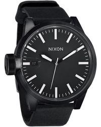 Nixon Chronicle All Black Watch black - Lyst