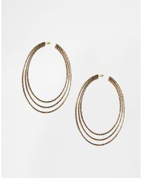 Asos Xl Triple Hoop Earrings - Lyst