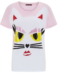 Karl Lagerfeld Ramy Choupette Face T-shirt - Lyst