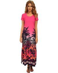 Tommy Bahama Palm Long T-Shirt Dress - Lyst