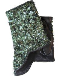Thomasine Gloves - Dubiln Mitaine Short Sequins Green - Lyst