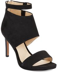 Nine West Magic Moments Leather Stiletto Sandals - Lyst