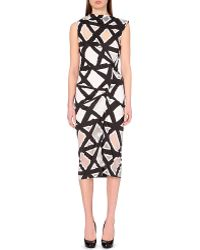 Vivienne Westwood Anglomania Taxa Jersey Black And White Dress - Lyst