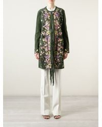 Emilio Pucci Flower Embroidery Fringed Coat - Lyst