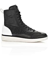 Alexander Wang   black Wangxo Eden High Leather Sneakers   Lyst
