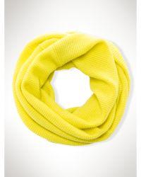Ralph Lauren Waffle-Knit Infinity Scarf - Lyst
