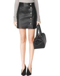 Tamara Mellon Short Wrap Skirt with Snaps - Lyst