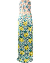 Mary Katrantzou Floral Evening Dress - Lyst