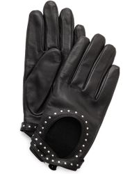 Club Monaco - Adee Driving Gloves - Black/Gold - Lyst