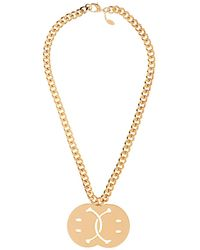 Moschino Smiley Face Necklace - Lyst