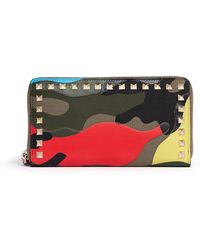 Valentino 'Camupsychedelic' Print Zip Continental Wallet - Lyst
