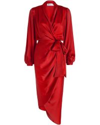 Zimmermann | Sueded Silk Wrap Robe | Lyst