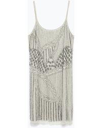 Zara Strass Dress - Lyst