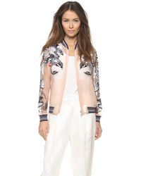 3.1 Phillip Lim - Tattoo Embroidered Organza Jacket Nude - Lyst
