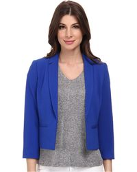 Adrianna Papell Cropped Jacket W/ Back Crossover - Lyst
