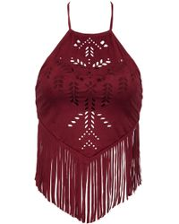 ále By Alessandra | Holy Cow Fringe Crop Top | Lyst