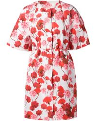 Giambattista Valli Poppy Print Coat - Lyst
