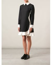 Valentino Frilled Shirt Dress - Lyst