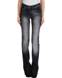 Yves Saint Laurent Rive Gauche Denim Pants - Lyst