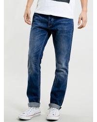 Topman Mid Wash Vintage Slim Jeans - Lyst