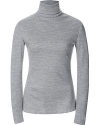 Rodarte Grey Wool Jersey Turtleneck - Lyst