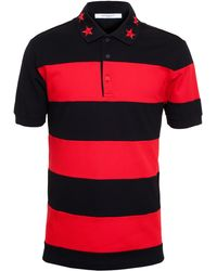 Givenchy Striped Polo Shirt With Star Collar - Lyst