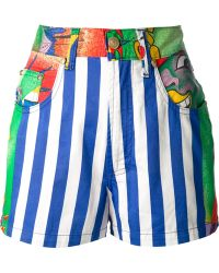 Gianni Versace Vintage Printed Shorts - Lyst