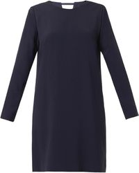 Freda Notch Crepe Tunic Dress - Lyst