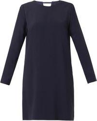 Freda Notch Crepe Tunic Dress - Lyst