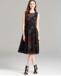 Rachel Roy Open Grid Dress - Lyst