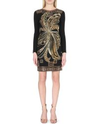 Emilio Pucci Studded Jersey Dress - Lyst