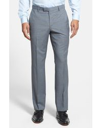 Boss by Hugo Boss 'Sharp' Flat Front Plaid Trousers - Lyst