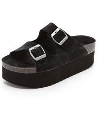 Jeffrey Campbell Aurelia Platform Sandals Black - Lyst
