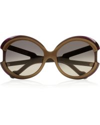 Marni Round-frame Acetate and Metal Sunglasses - Lyst